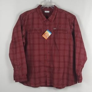 Columbia long sleeve red plaid shirt men size 4XL